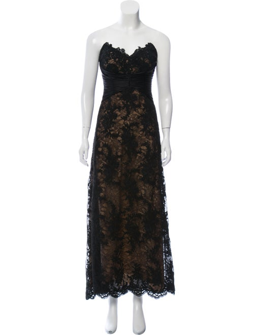 Badgley Mischka Lace Evening Dress Black