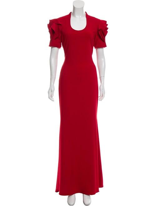 Badgley Mischka Short Sleeve Evening Dress