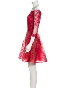 Badgley Mischka Lace Pattern Mini Dress w/ Tags