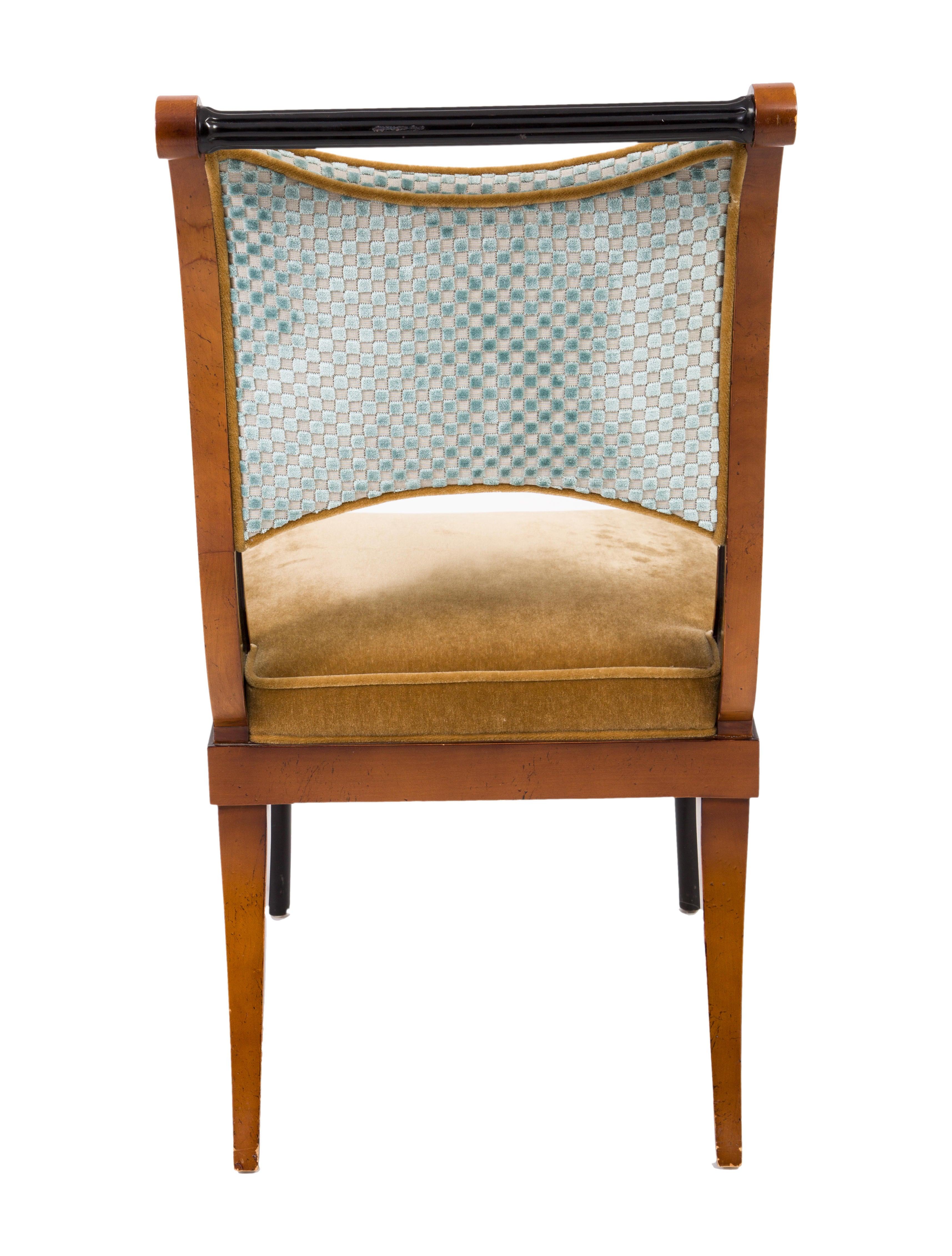 baker velvet upholstered dining chairs furniture