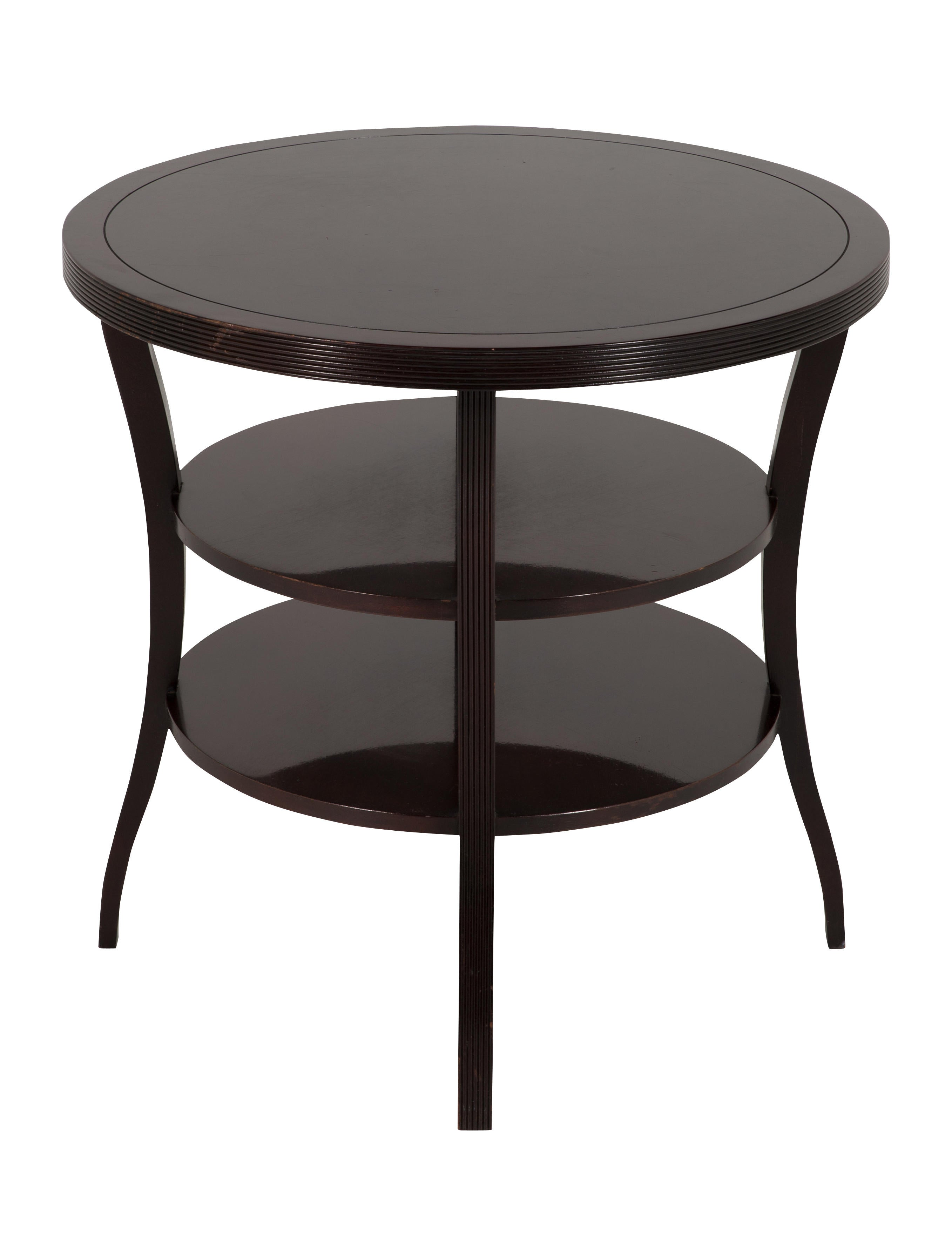 Baker Barbara Barry Mahogany Round Tiered End Table Furniture