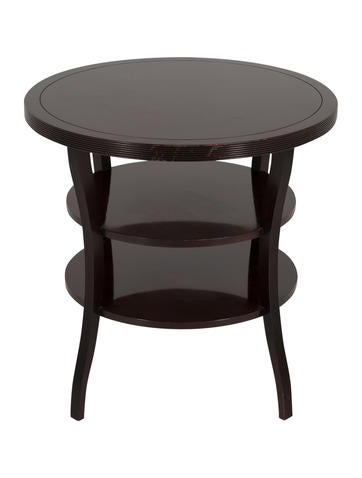Marvelous Barbara Barry Mahogany Round Tiered End Table