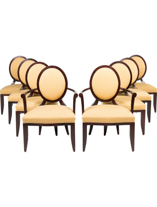 Baker Set of 8 Barbara Barry Collection Oval X-Back Dining ...
