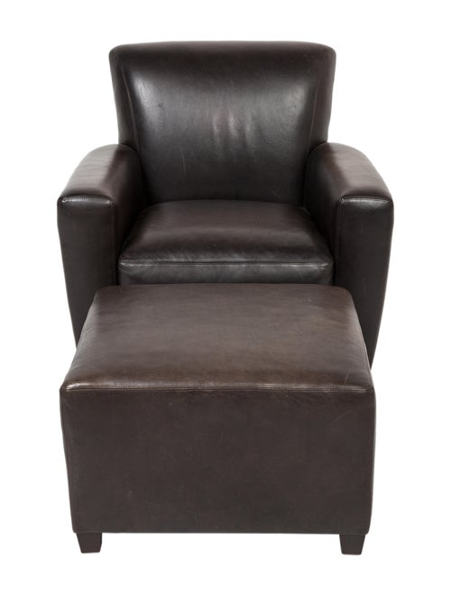 Wondrous Baker Coach Leather Armchair W Ottoman Furniture Ibusinesslaw Wood Chair Design Ideas Ibusinesslaworg