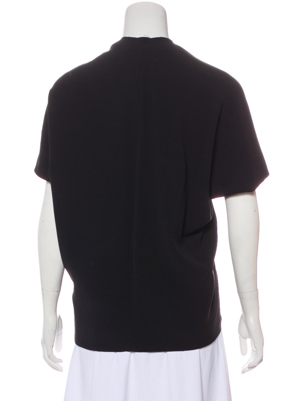 Balenciaga Cap Sleeve Gathered Blouse Black - image 3