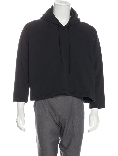 Balenciaga Woven Cropped Hoodie black