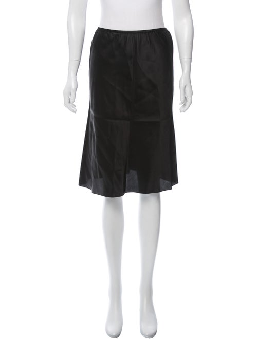 Balenciaga Knee-Length Slip Skirt Black