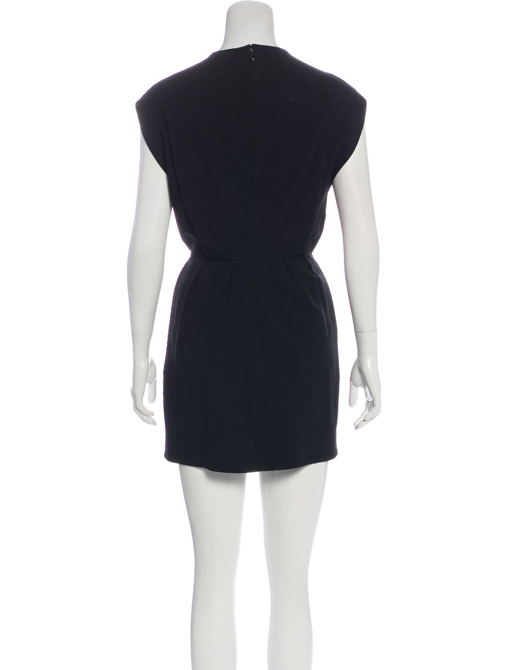 Balenciaga Cap Sleeve Mini Dress Black - image 3
