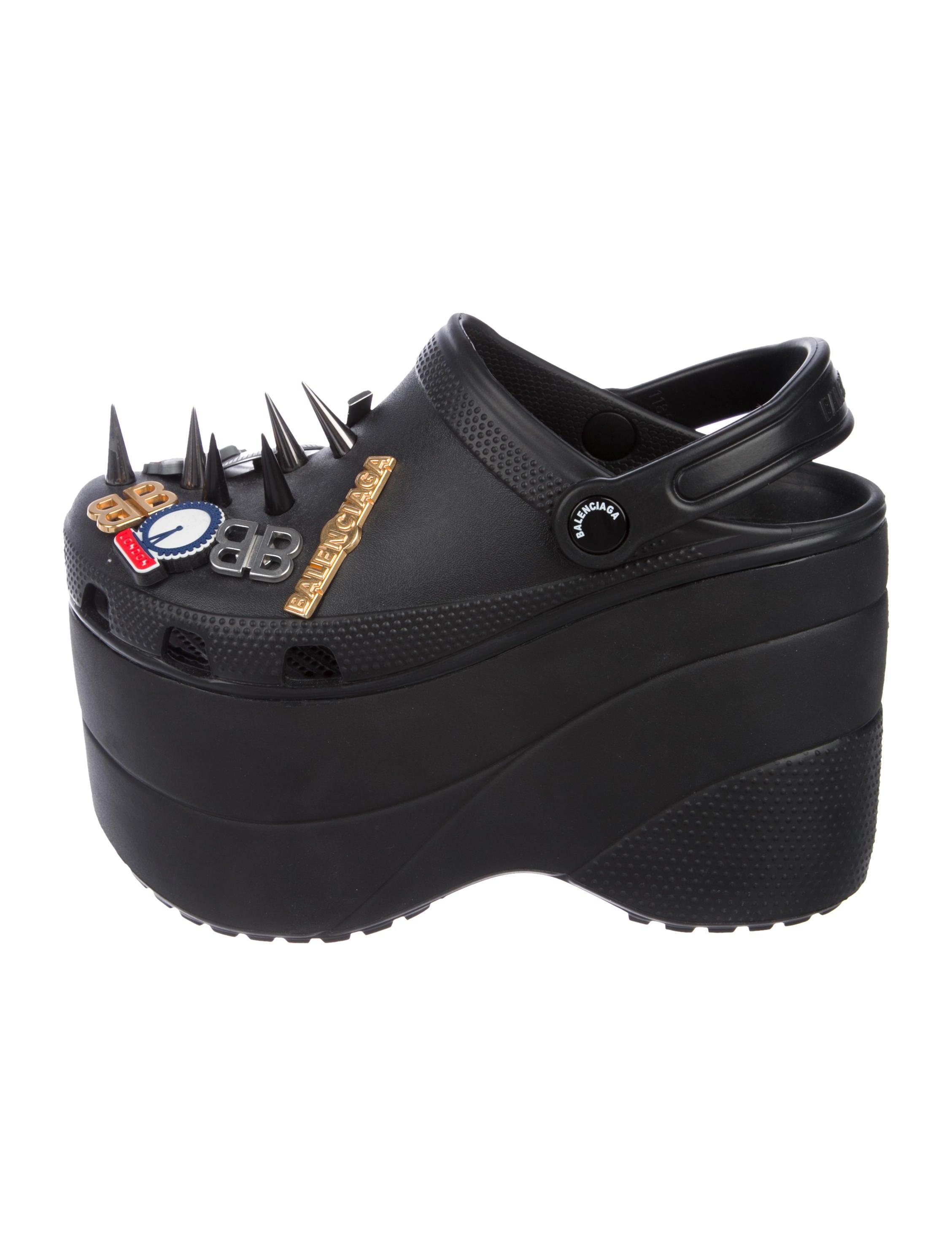 Balenciaga x Crocs Embellished Platform