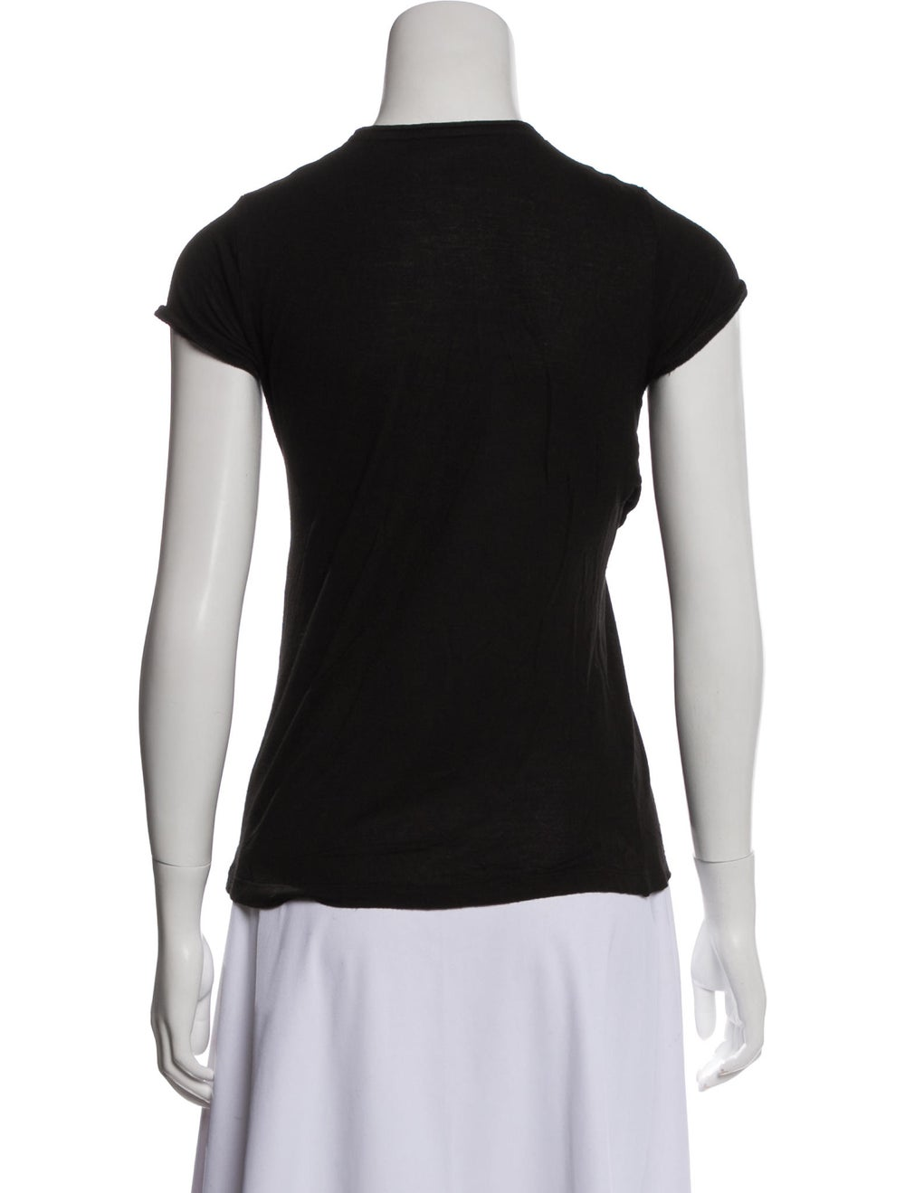 Balenciaga Embellished Cap Sleeve T-Shirt Black - image 3
