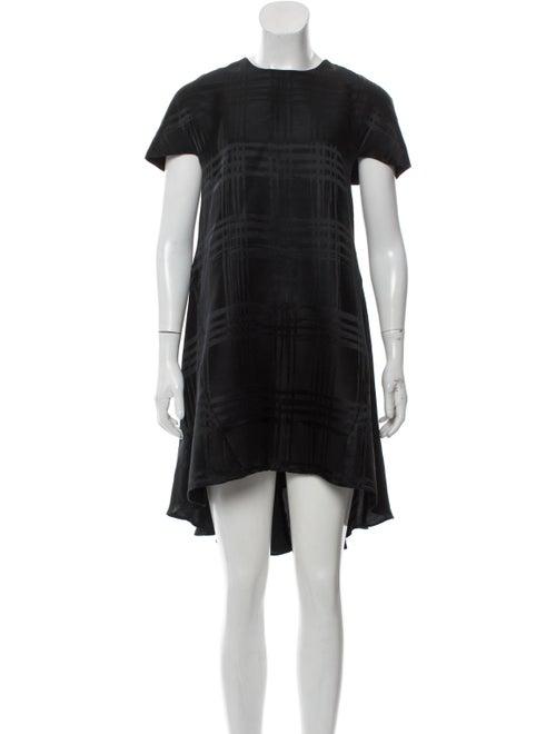 Balenciaga Silk Cap Sleeve Dress Black - image 1