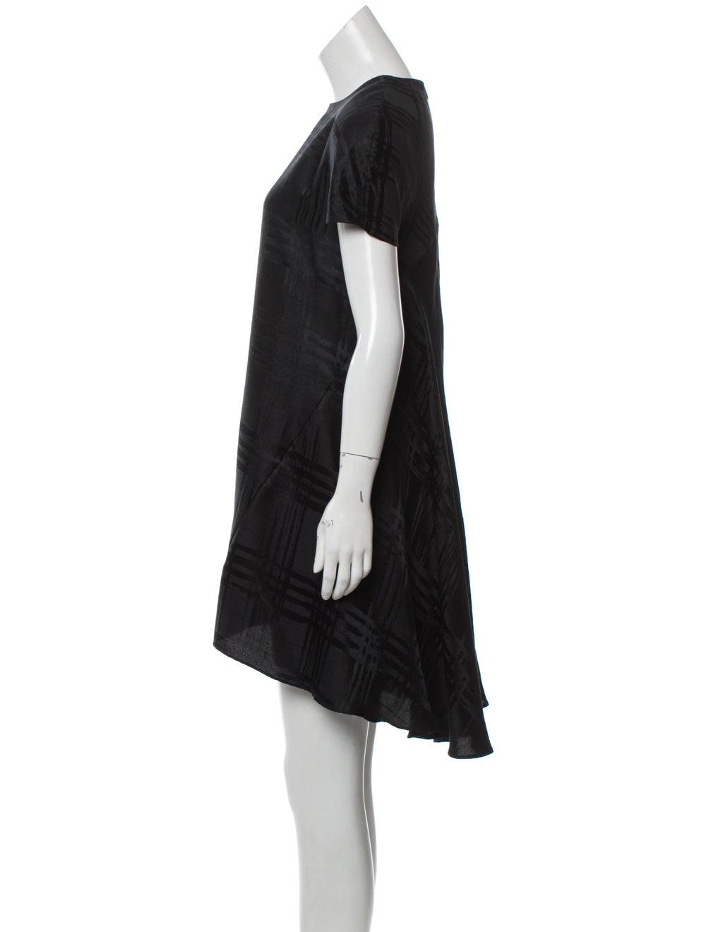 Balenciaga Silk Cap Sleeve Dress Black - image 2