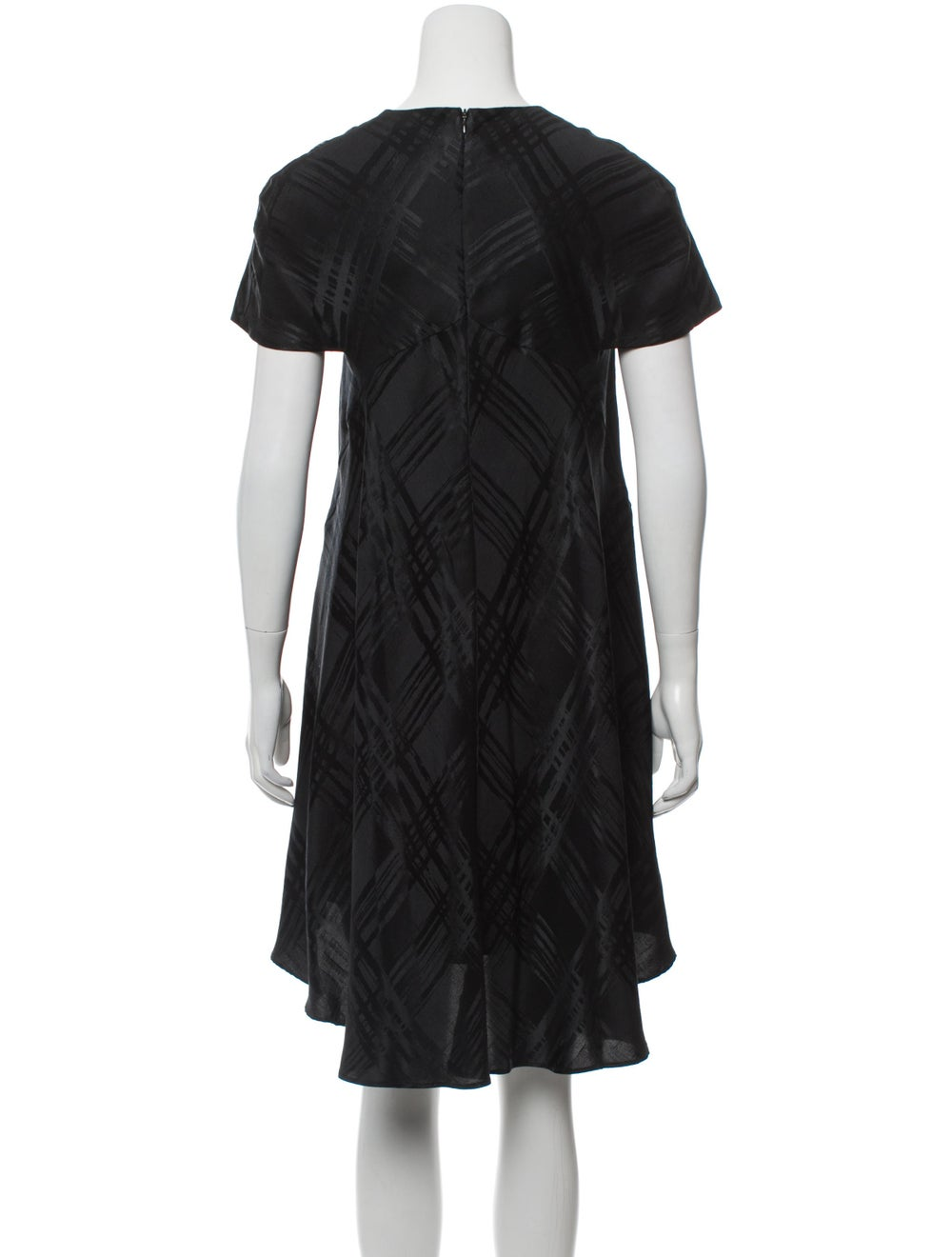 Balenciaga Silk Cap Sleeve Dress Black - image 3