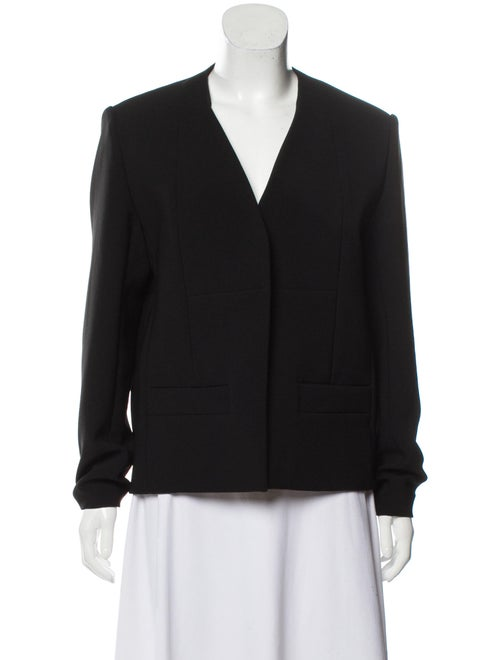 Balenciaga Collarless Structured Blazer Black