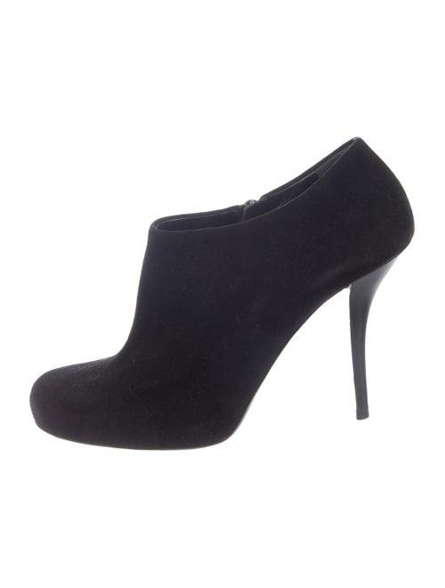 Balenciaga Round-Toe Booties Black