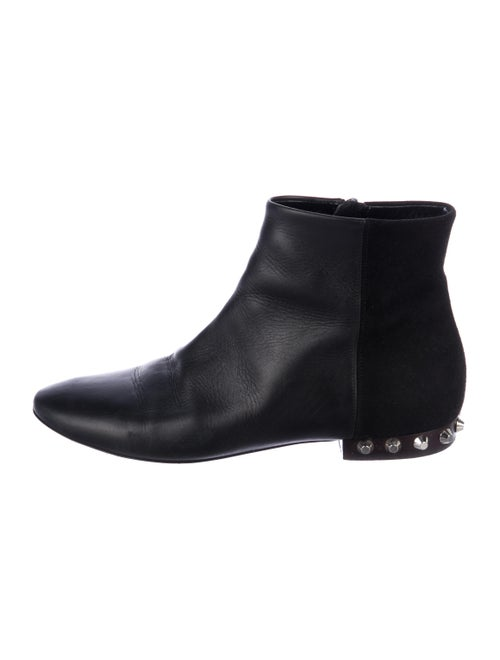 Balenciaga Studded Leather Booties Black