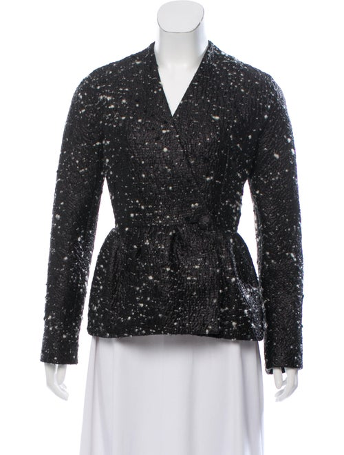 Balenciaga Collarless Casual Blazer w/ Tags Black