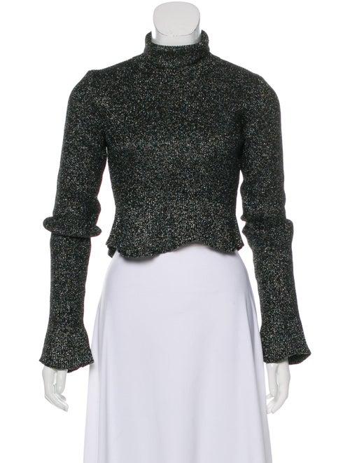 Balenciaga Metallic Cropped Sweater Metallic
