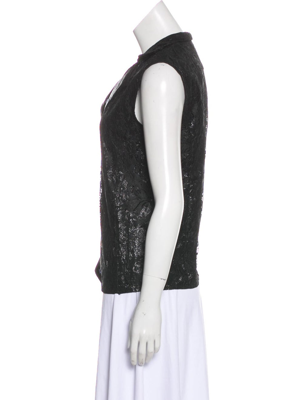 Balenciaga Lace Sleeveless Top Black - image 2