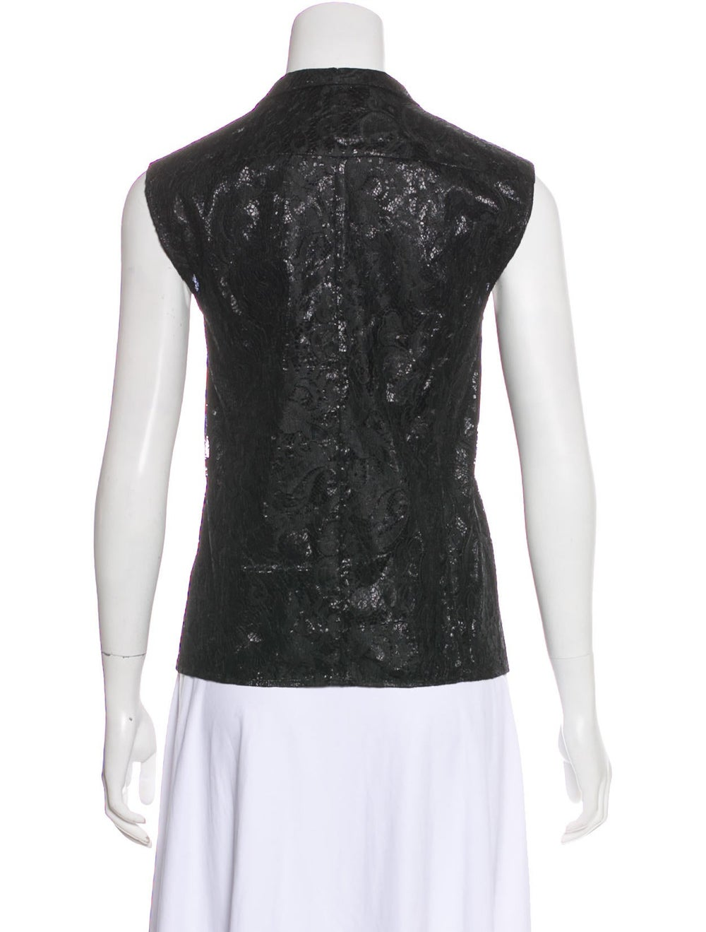 Balenciaga Lace Sleeveless Top Black - image 3