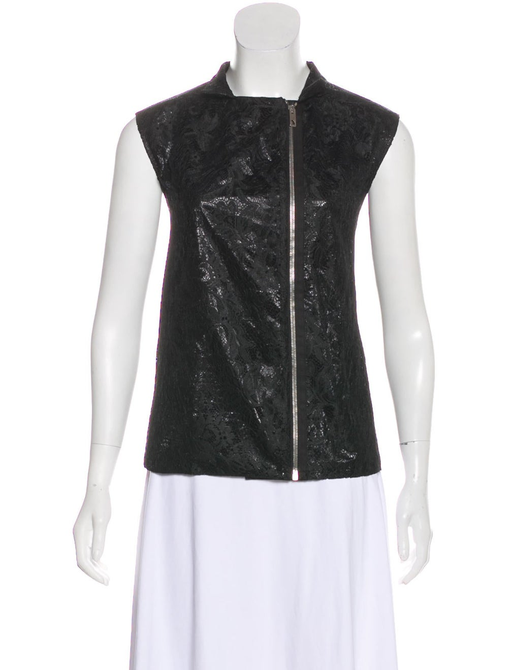 Balenciaga Lace Sleeveless Top Black - image 4