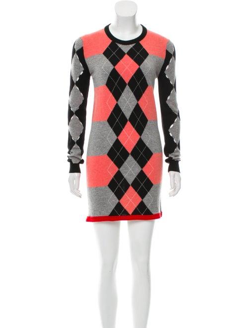 Balenciaga Wool Argyle Dress grey