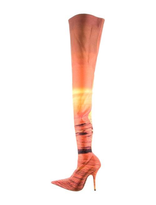 Balenciaga Fabric Over-The-Knee Boots Orange