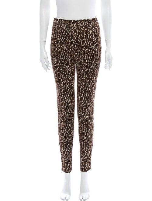 Balenciaga Animal Print Skinny Leg Pants Brown - image 1