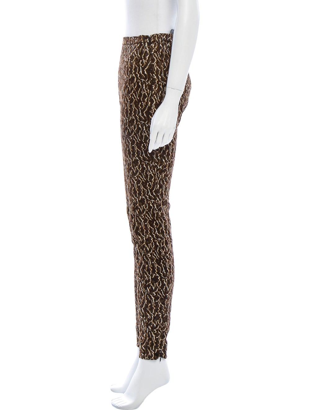 Balenciaga Animal Print Skinny Leg Pants Brown - image 2