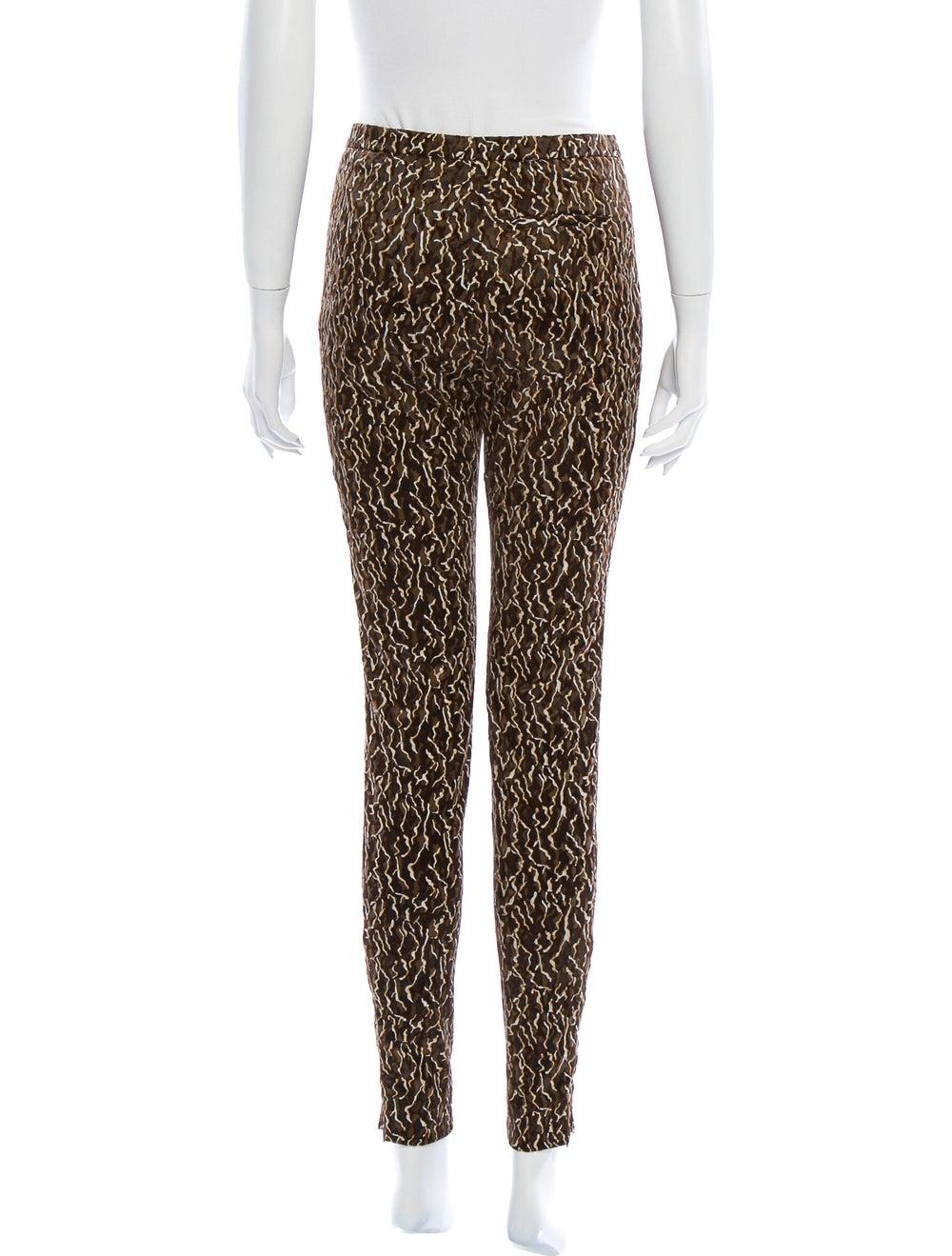 Balenciaga Animal Print Skinny Leg Pants Brown - image 3