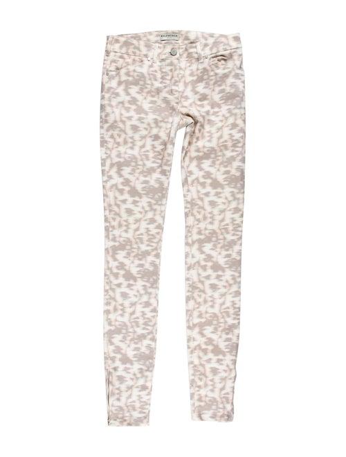 Balenciaga Printed Mid-Rise Jeans pink