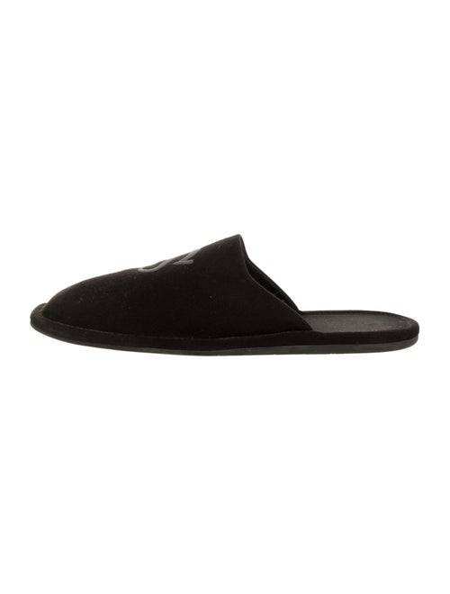 Balenciaga Paris Square-Toe Slippers black