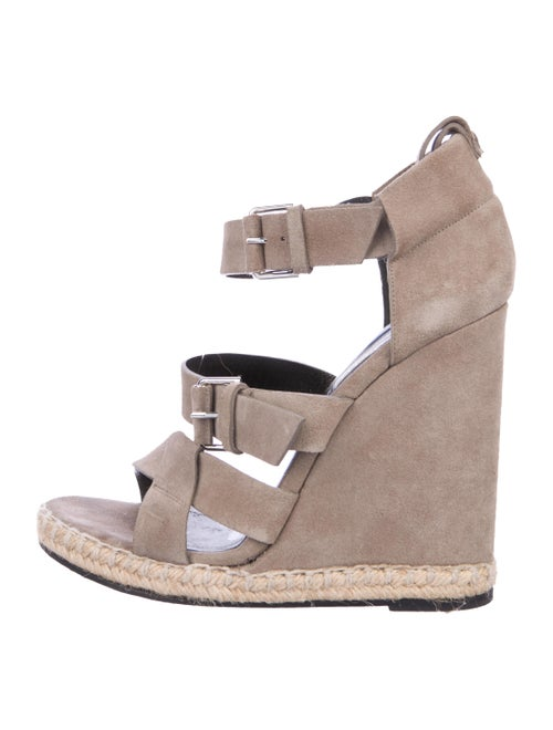Balenciaga Suede Wedge Sandals