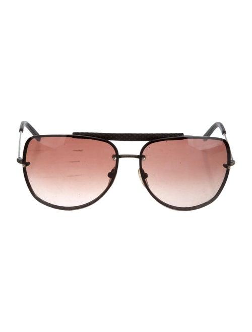 Balenciaga Rimless Aviator Sunglasses