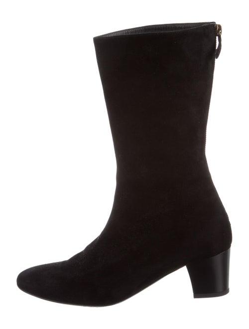 Balenciaga Mid-Calf Boots Suede Boots Black