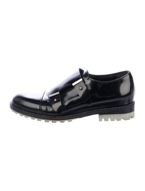 Balenciaga Cap-Toe Double Monk Strap Shoes black