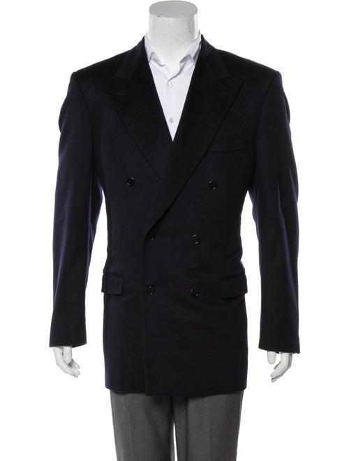 Balenciaga Cashmere Double-Breasted Blazer navy
