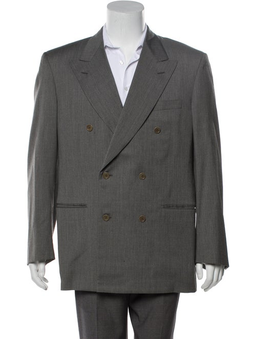 Balenciaga Wool Double-Breasted Blazer wool