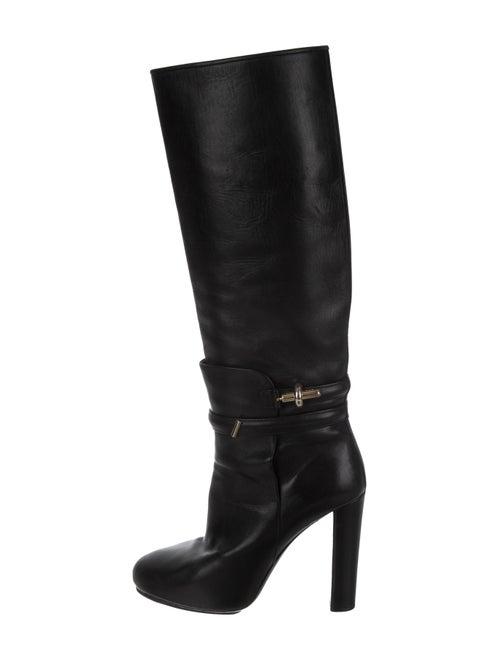 Balenciaga Leather Knee-High Boots Black