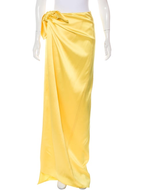 Balenciaga 2019 Satin Maxi Skirt Yellow