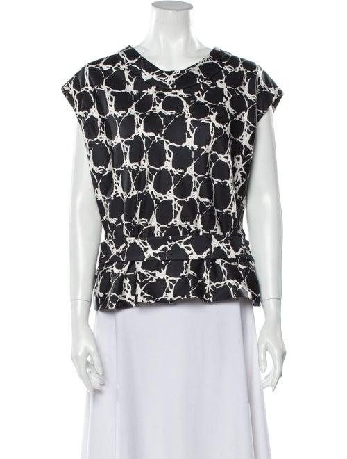 Balenciaga Silk Printed Blouse Grey