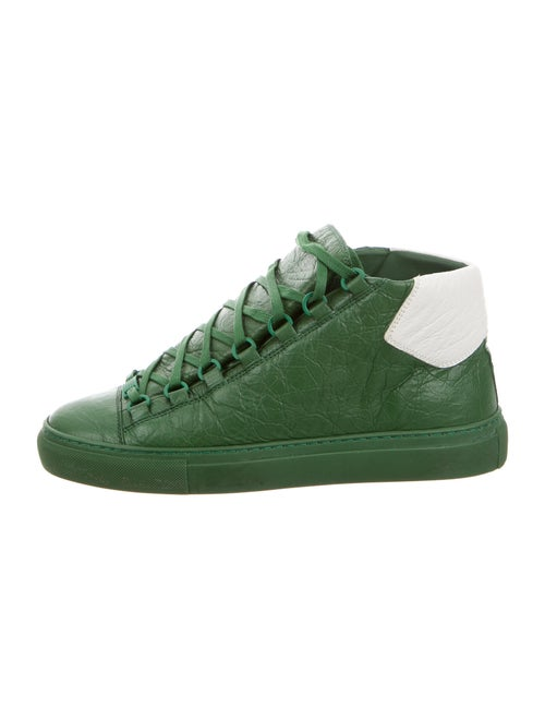 Balenciaga Leather Sneakers Green