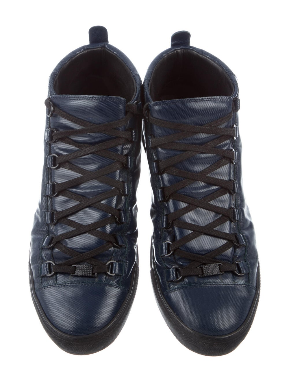 Balenciaga Leather Sneakers Blue - image 3