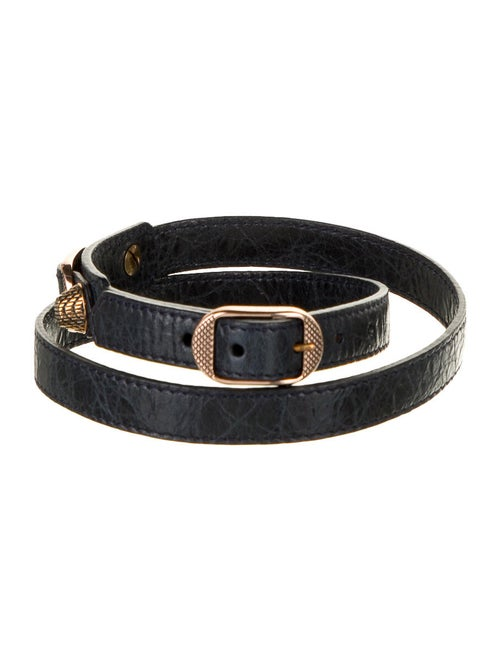 Balenciaga Motocross Leather Belt gold