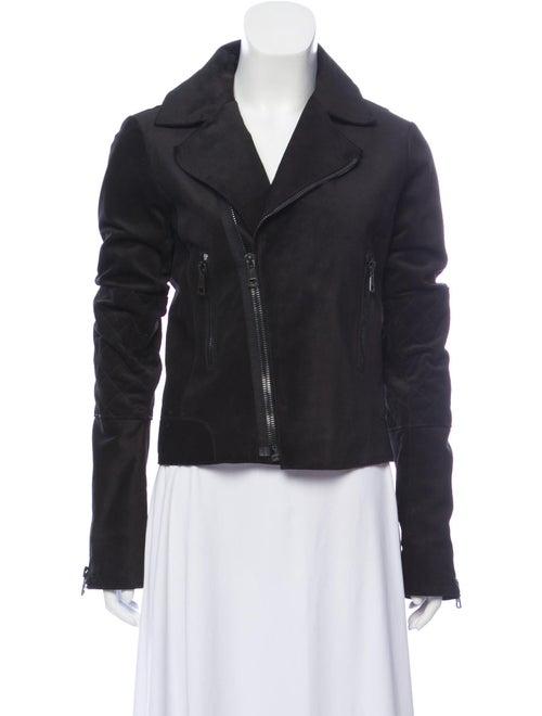 Balenciaga Suede Moto Jacket Black