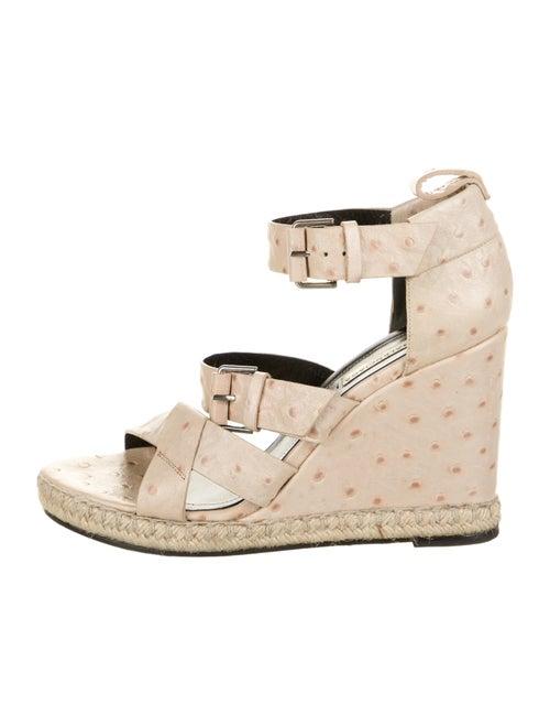 Balenciaga Ostrich Sandals