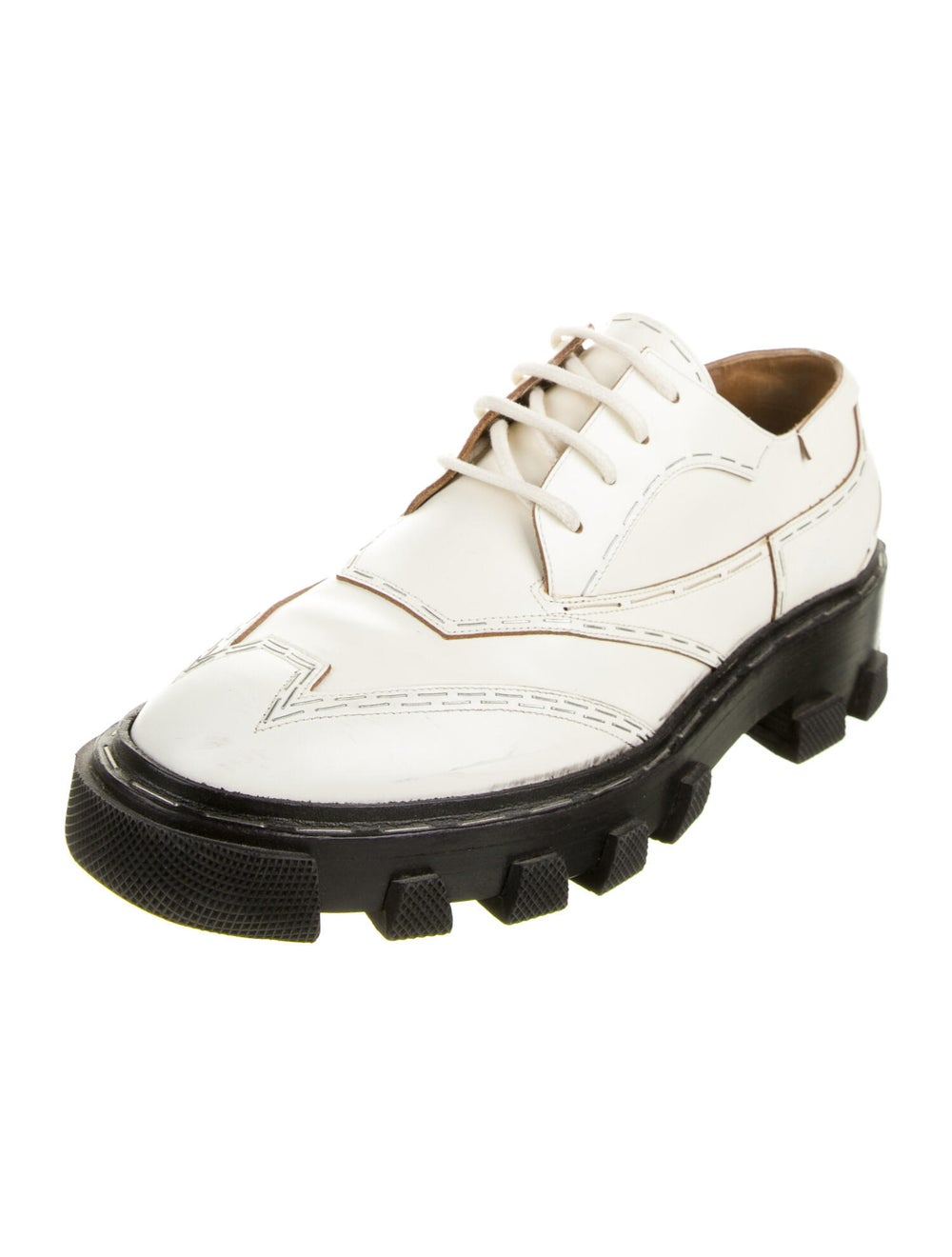 Balenciaga Leather Oxfords - image 2