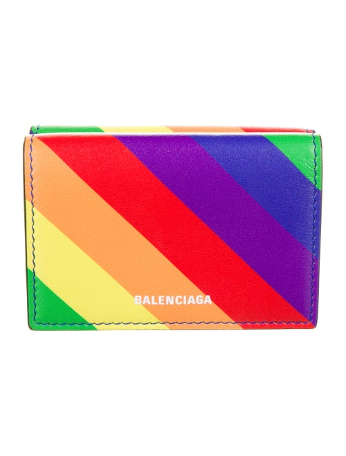 Balenciaga Rainbow Compact Wallet Red