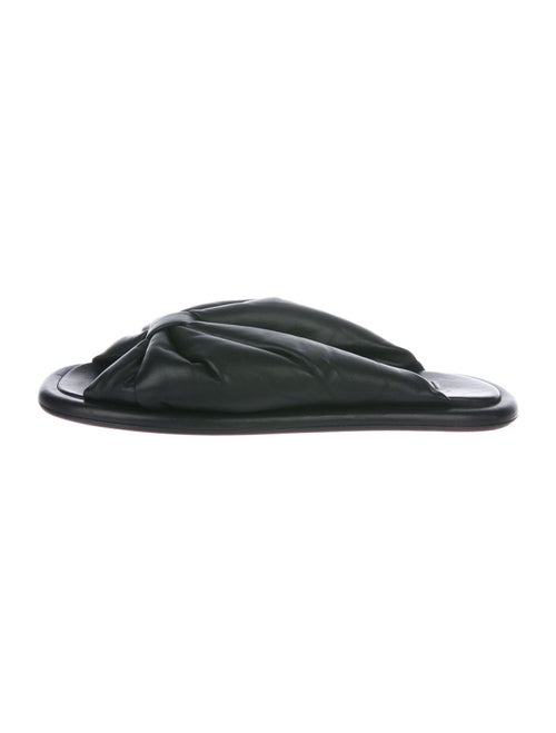 Balenciaga Leather Slides Black