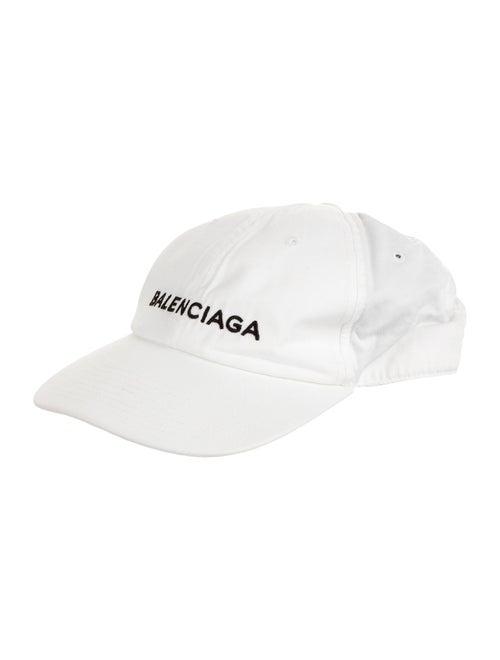 Balenciaga Logo Baseball Cap White